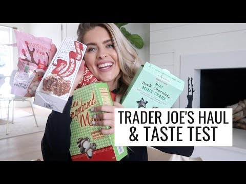 TRADER JOE'S HOLIDAY HAUL & TASTE TEST
