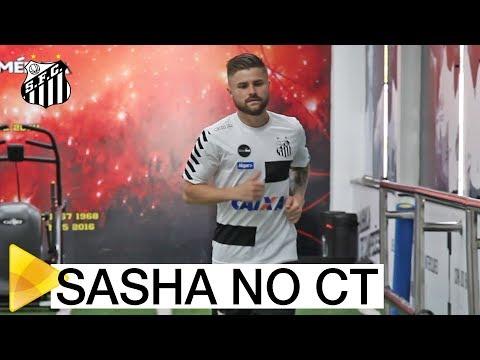 Eduardo Sasha faz o primeiro treino no Santos FC