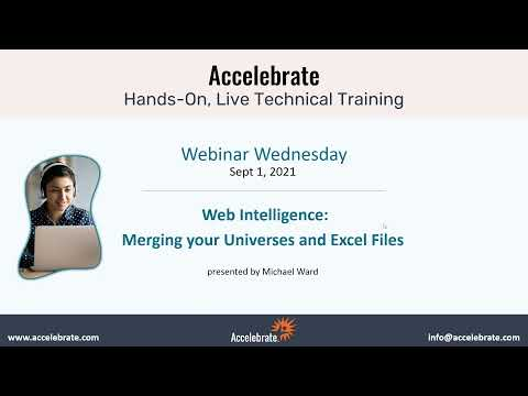Webi Webinar : Merging your Universes and Excel Files with Web Intelligence