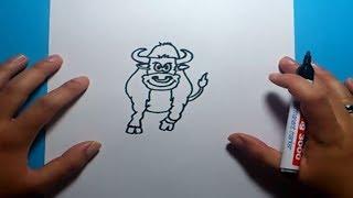 Como dibujar un toro paso a paso | How to draw a bull