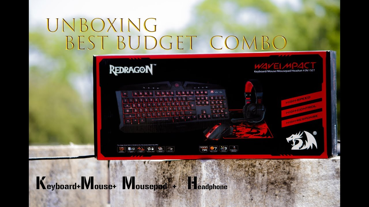 Best Gaming Keyboard Mouse Headphone Combo Under 2000 Redragon S103 Youtube