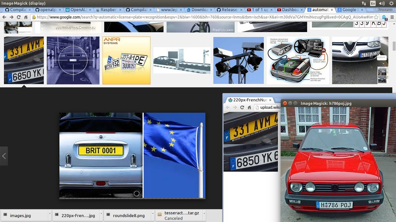 Raspberry Pi Automatic License Plate Recognition with OpenCV 5 : OpenALPR  on your Raspberry Pi
