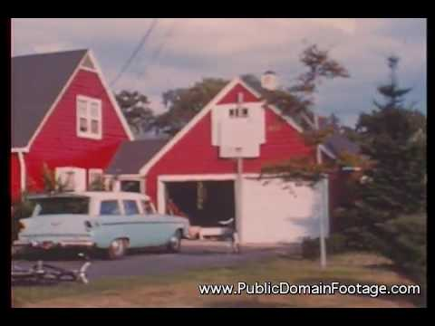 1950's American Suburbs archival stock footage