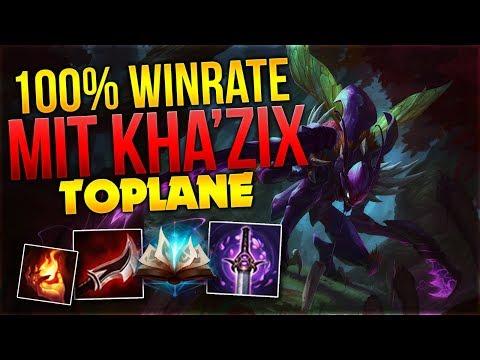 100% Winrate mit Khazix Toplane! [League of Legends] [Deutsch / German] thumbnail