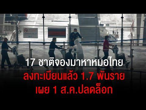 17 ชาติจองมาหาหมอไทย ลงทะเบียนแล้ว 1.7 พันราย เผย 1 ส.ค.ปลดล็อก กลุ่มรักษา-กักตัวครบ 14 วัน