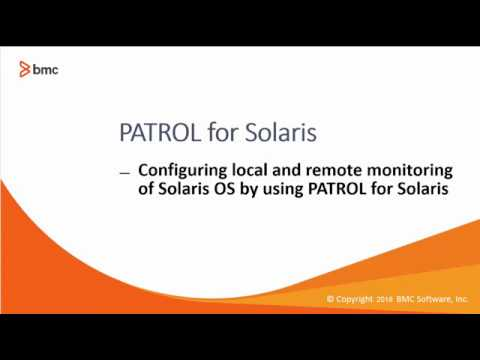 PATROL for Solaris : Configuring local and remote monitoring of Solaris OS