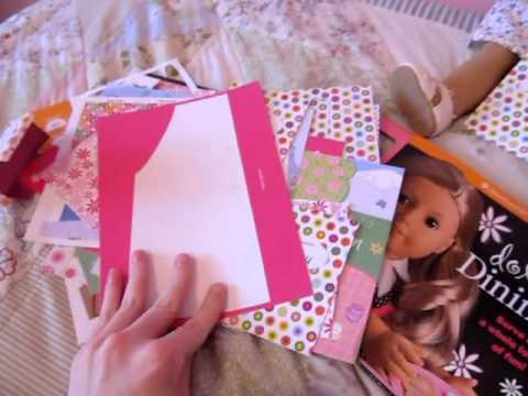 A Peek Inside The American Girl Doll Dining Bookkit Youtube