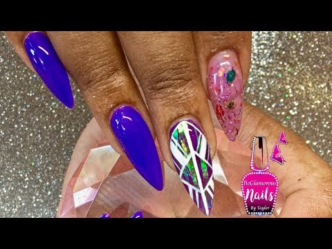 How To | Acrylic Nails | Infill | Encapsulated Mylar | Aztec Nail art Design | Gel Polish