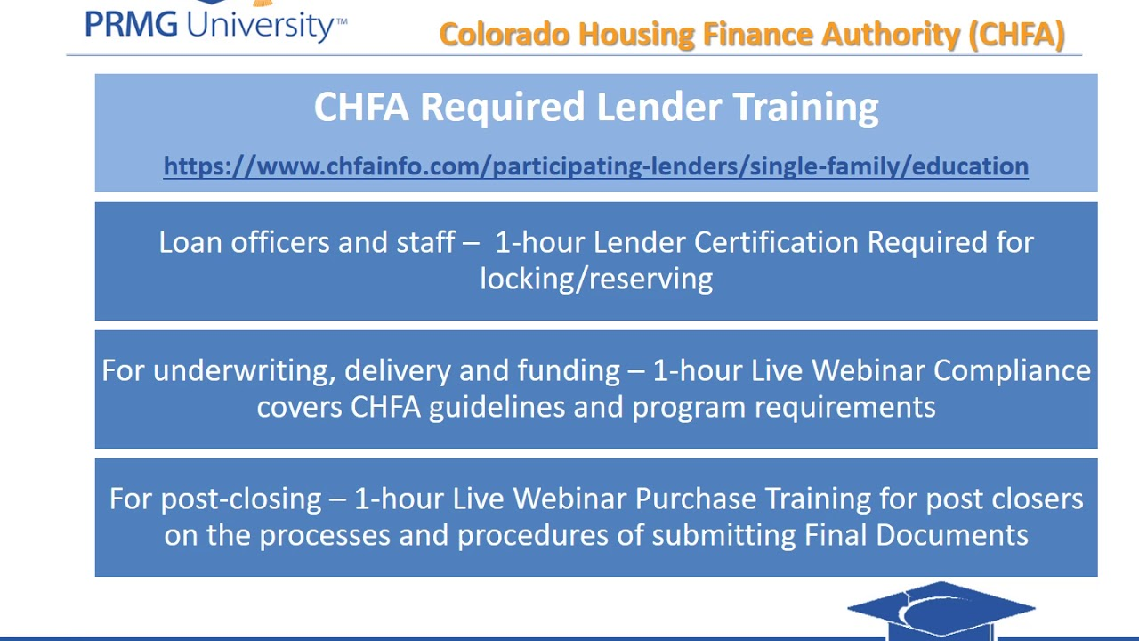 Colorado Chfa Training Youtube