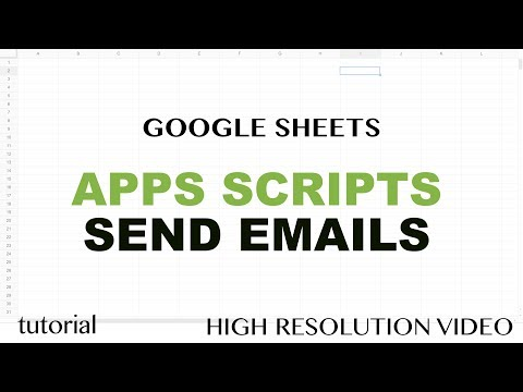 Google Sheets - Send Emails Using Apps Script JavaScript MailApp Tutorial - Part 12