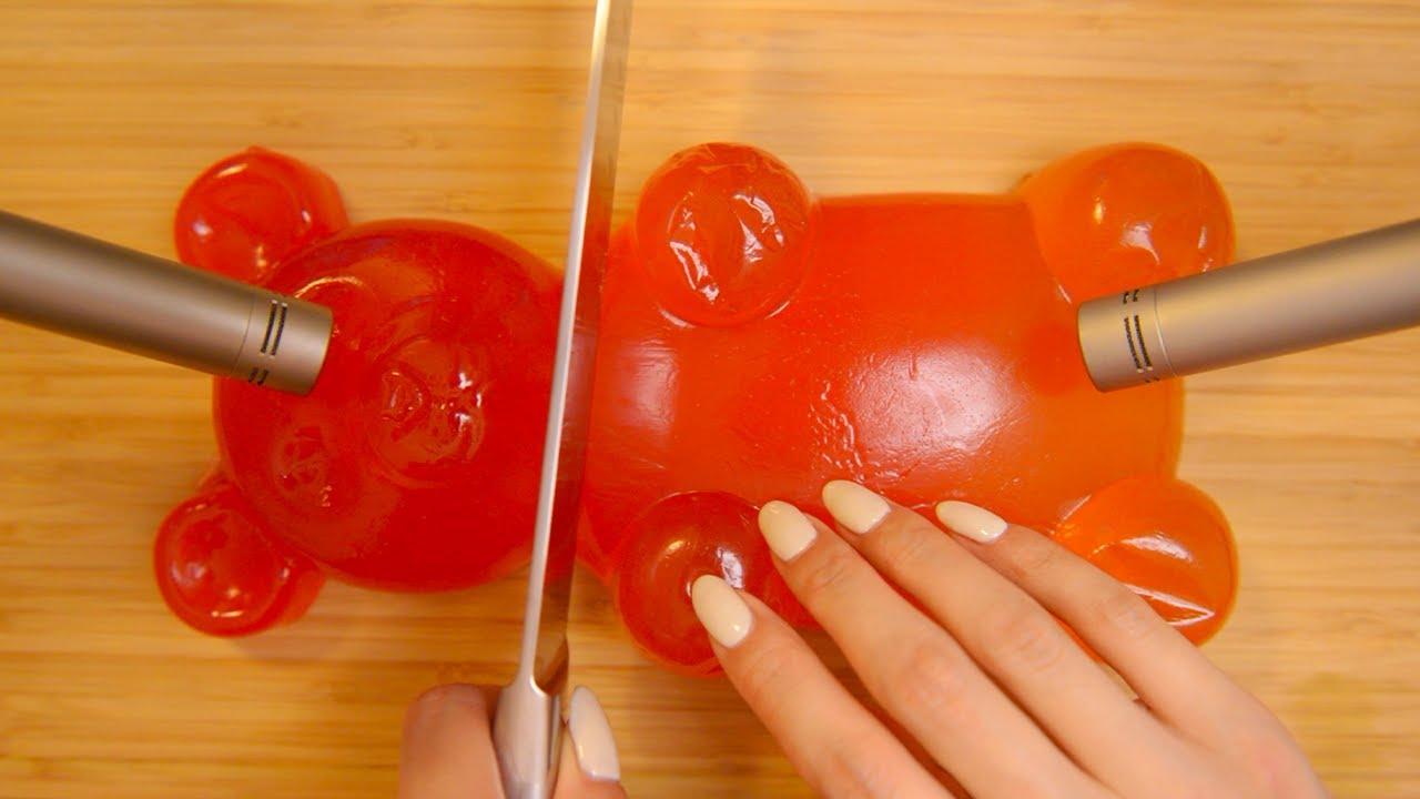 ASMR of a Giant Gummy Bear (No Talking)
