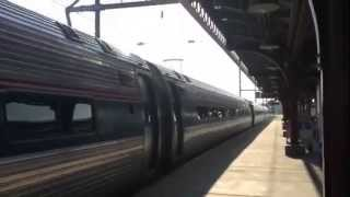 Amtrak #80 with viewliner!! Acela #2255 (Wilmington DE)