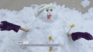 Neige : les images insolites dans le département