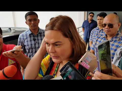 Mayor Sara Duterte interview at the RDR Gym in Tagum City