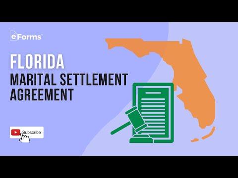 A Florida Marital Settlement Agreement, EXPLAINED