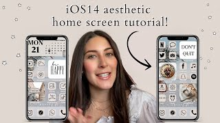 *iOS14* aesthetic iPhone customization + how to design your own app icons!!