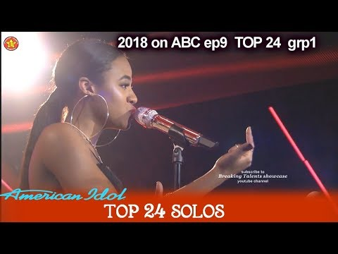 """Kay Kay  """"Love On The Brain"""" JUDGES SAY A STAR IS BORN Top 24 Solo American Idol 2018"""