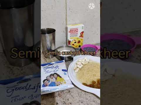 Semia sabja seeds custard kheer!