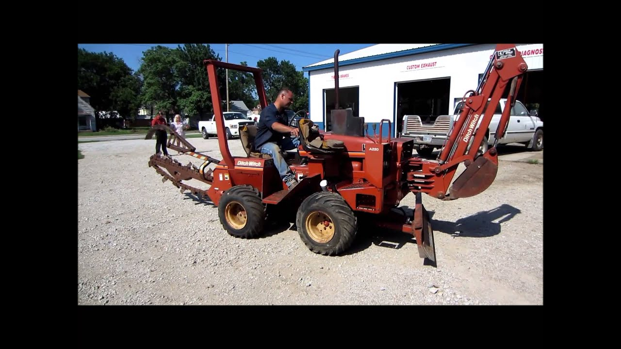 ditch witch 2300 trencher for sale sold at auction august 21 2013 rh youtube com Ditch Witch 5010 Ditch Witch Parts