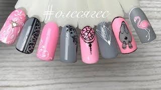 Простые дизайны ногтей гель лаком и гель краской, градиент из одного цвета❤️Lovely