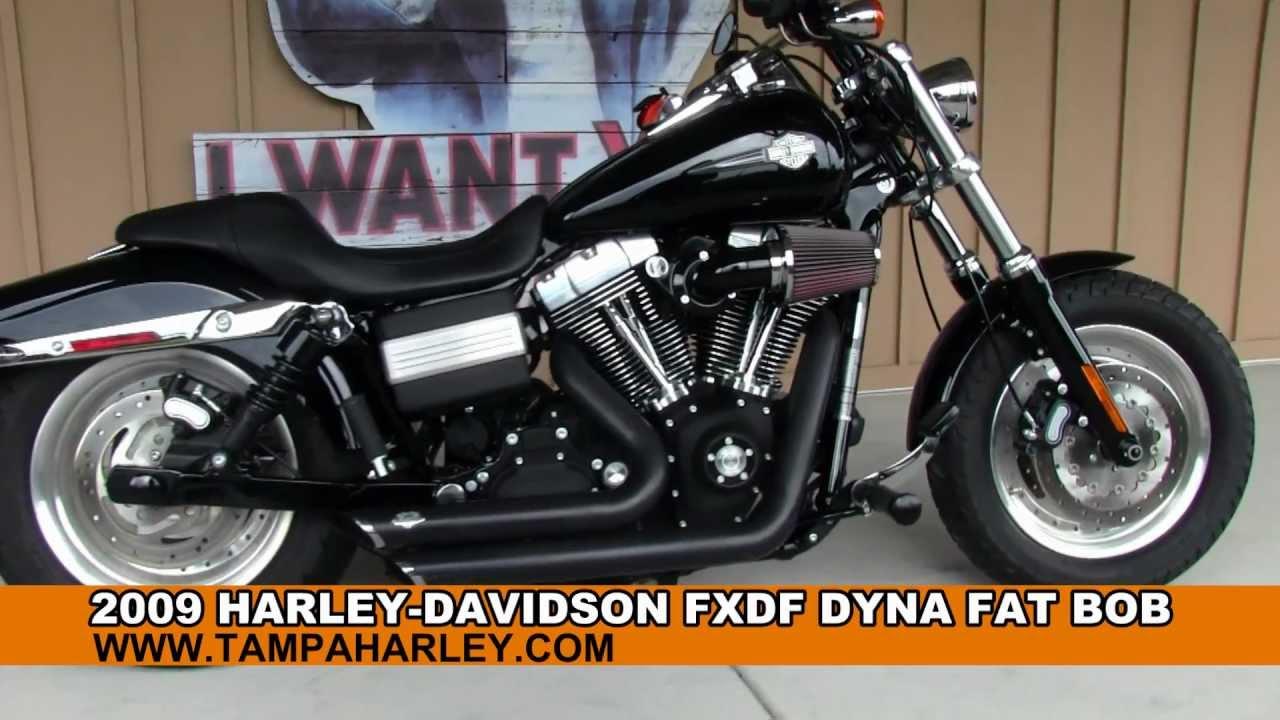 BAD ASS!!! 2009 Harley-Davidson Dyna Fat Bob for sale - YouTube