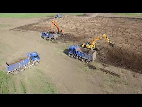ООО Строй Комплекс строительство фермерского хозяйства с использованием 3D систем нивелирования