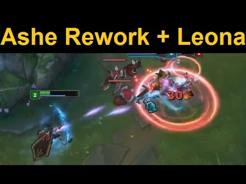 Ashe Rework Full Gameplay - Ashe and Leona BFF