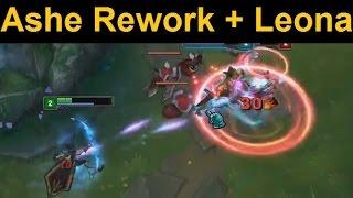 Ashe Rework Full Gameplay - Ashe and Leona BFF