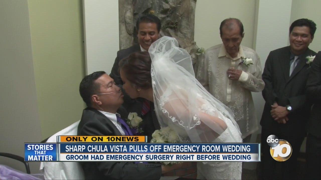 Chula Vista hospital helps pull off emergency room wedding - YouTube