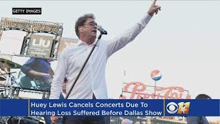 Singer Huey Lewis has canceled his tour, according to his Twitter p...