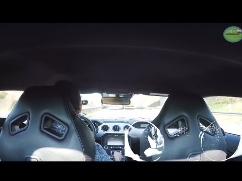 2016 Ford Mustang Fastback GT 5.0 V8 on German Autobahn 260 km/h