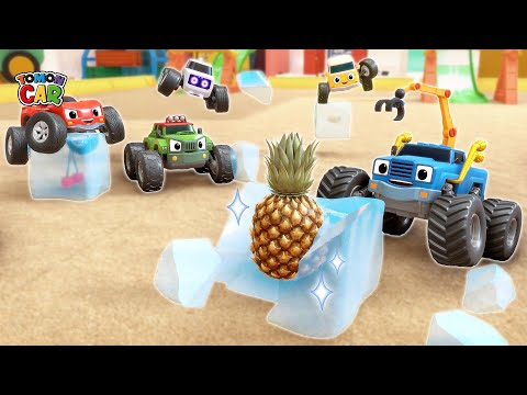 It's Hot! | Find Fruit In Ice With Friends | Kids Songs Cartoon For Kids Tomoncar World