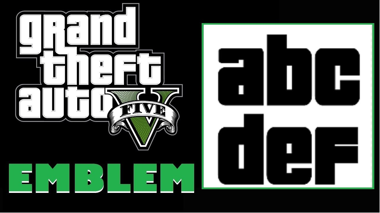 How To Put Letters In Gta  Crew Emblem
