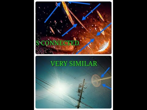 Energy connects to the sun to another object same location on different days.