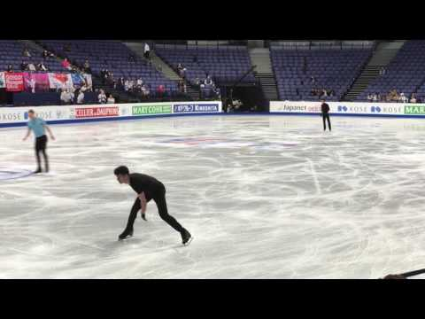 #Worlds2017: Practice with Jason Brown, Nathan Chen, Javier Fernandez