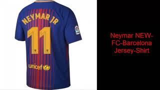 7612d3e266d Messi-Neymar NEW FC Barcelona 2017-2018 Jersey-Shirt