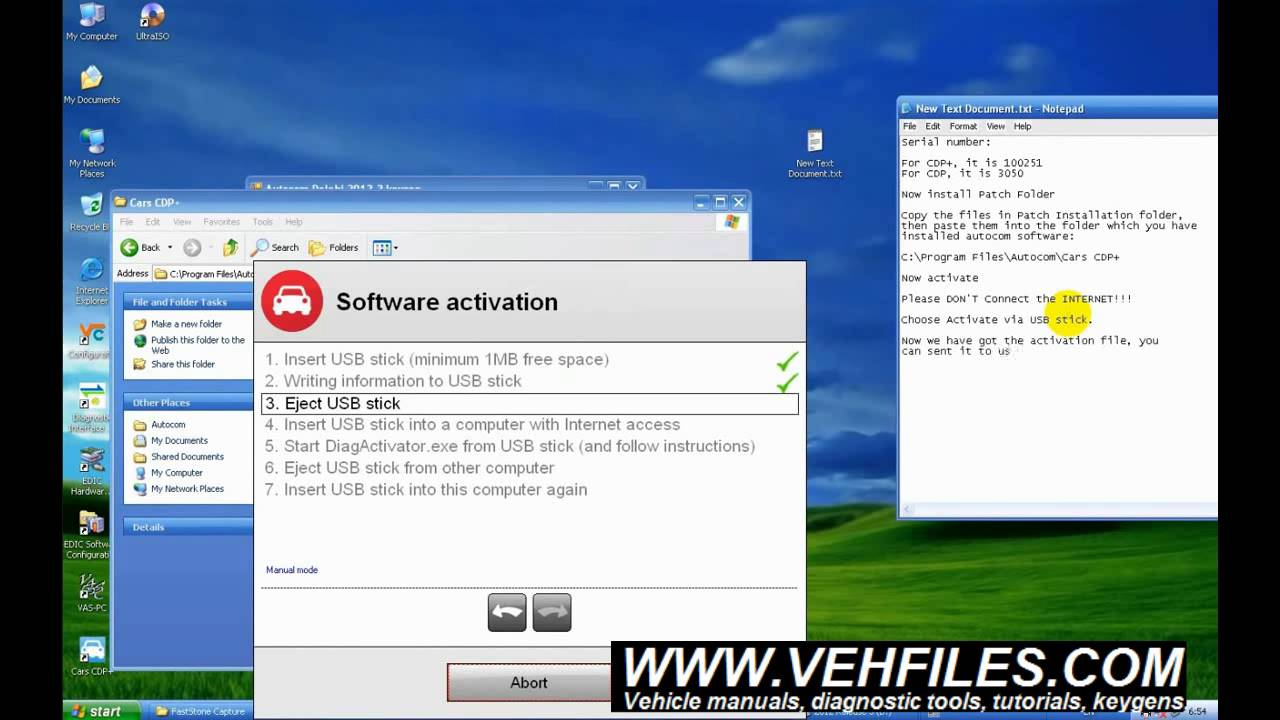 How to install and activate autocom software