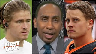 Stephen A. gives Justin Herbert a slight edge to win Rookie of the Year over Joe Burrow | First Take