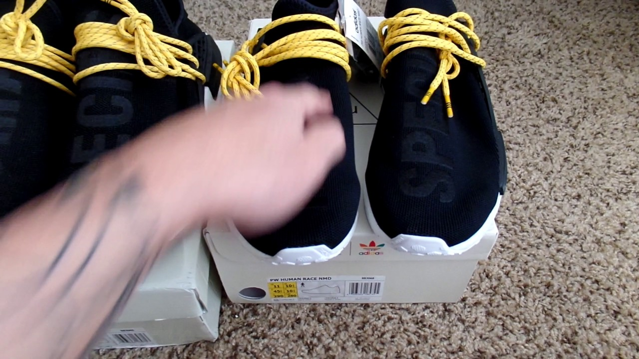 Adidas NMD HUMAN RACE REAl VS FAKE comparison legit check - YouTube 8765ce3f4