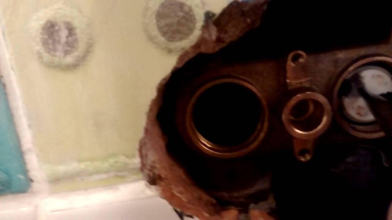 Trevi Therm shower valve - removing cartridges (part 2) - YouTube