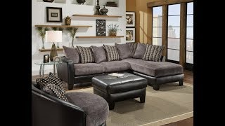 Living Room Furniture with Grey Sectional Sofa With Chaise