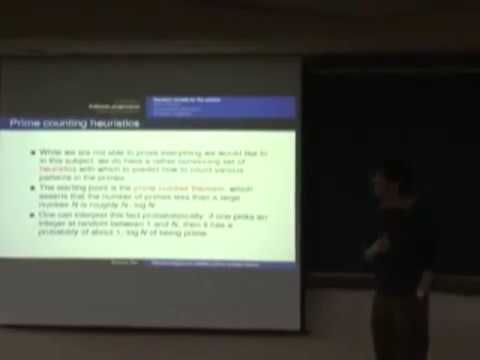 Terence Tao - Recent progress in additive prime number theory [2009]