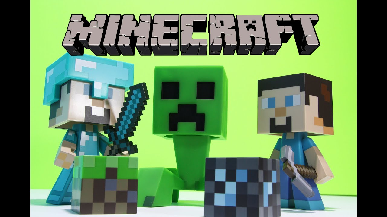 Minecraft steve and creeper 6 inch vinyl figure toy unboxing review youtube - Minecraft creeper and steve ...