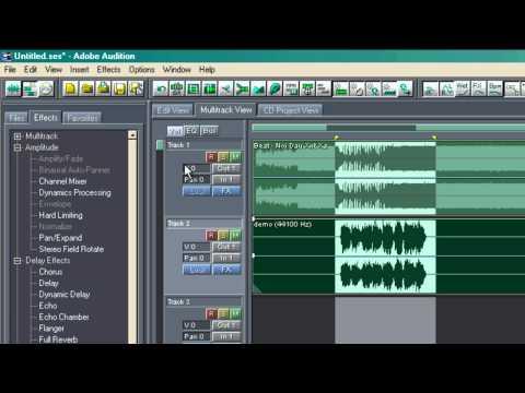 mix nhạc đơn giản vs adobe audition 1.5
