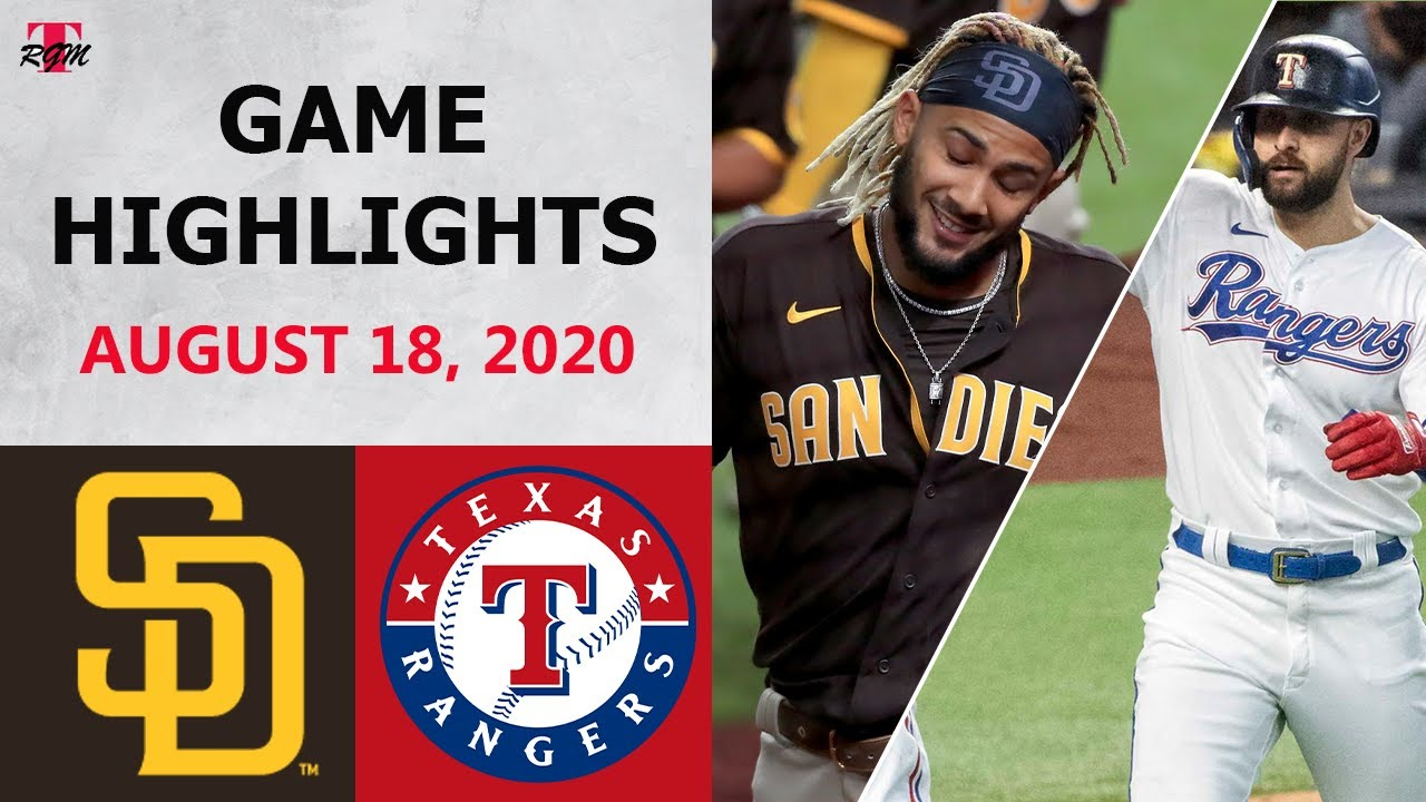 San Diego Padres vs. Texas Rangers Highlights | August 18, 2020 (Morejon vs. Minor)