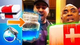 MAKING FORTNITE ITEMS IN REAL LIFE PART 2 (USING HOUSEHOLD ITEMS)