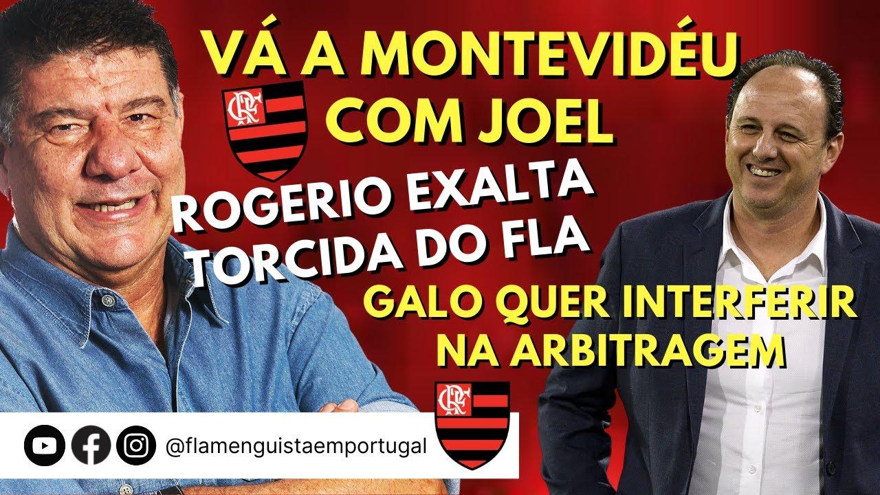 ASSISTA O JOGO EM MONTEVIDÉU COM JOEL   CENI EXALTA FLA   GALO FALA DE ARBITRAGEM