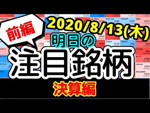 【JumpingPoint!!の10分株ニュース】2020年8月13日(木)~決算編(前編)~