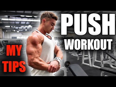 FULL PUSH WORKOUT With My Tips: Chest, Shoulders & Triceps | Zac Perna