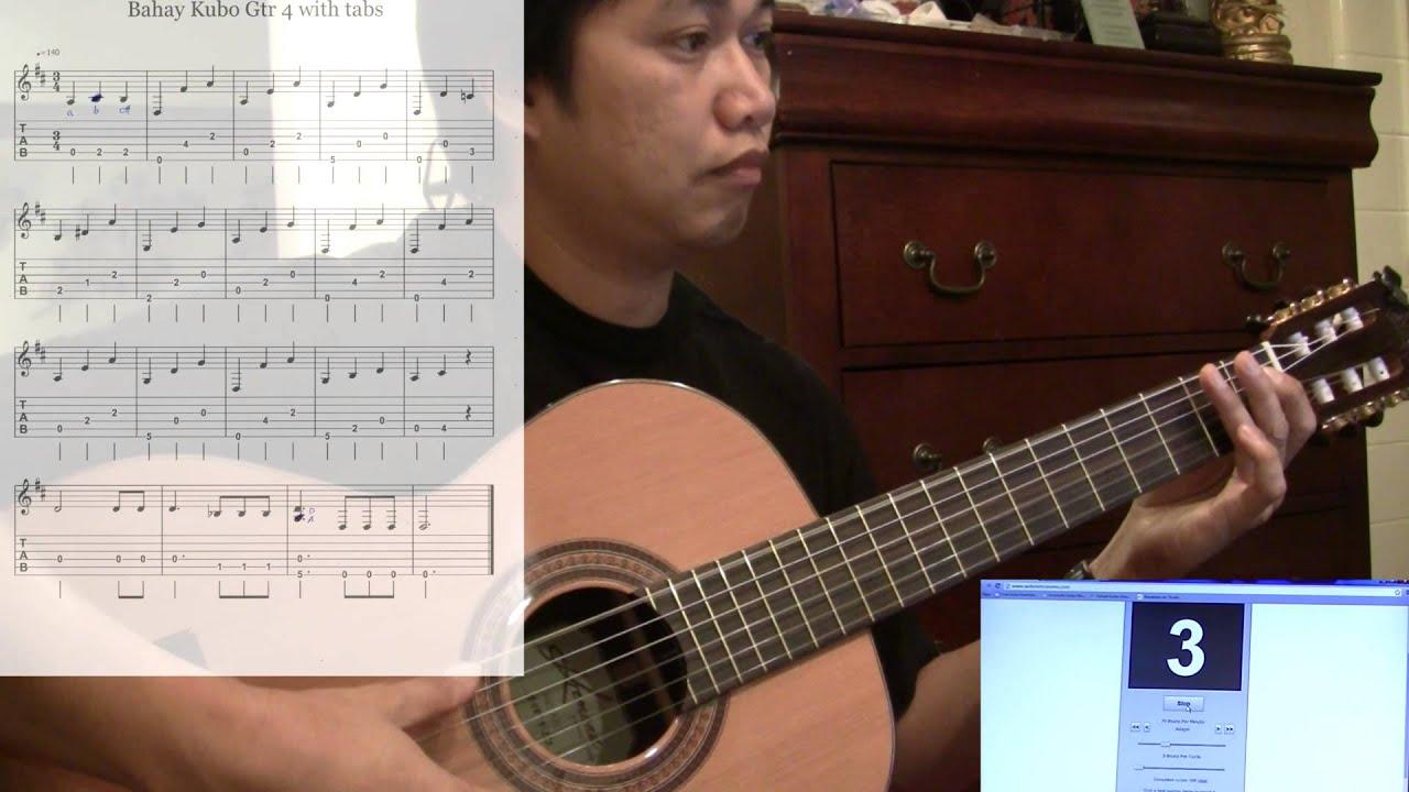 Bahay Kubo Philippine Medley Lesson Guitar 4 70bpm Solo